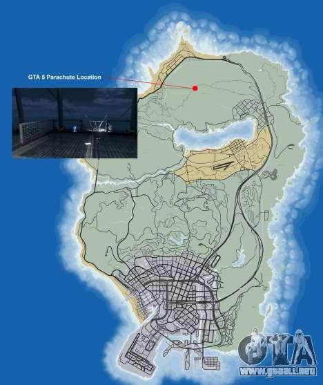 Dónde encontrar el paracaídas de GTA 5