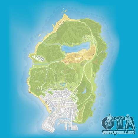 Atlas mapa de Grand Theft Auto 5