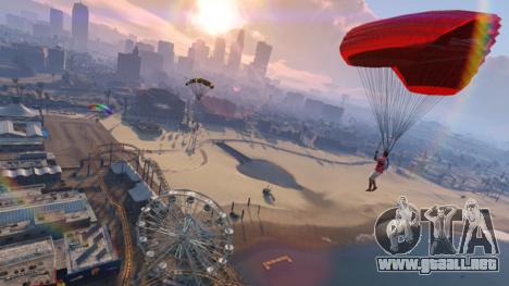 GTA Online, los saltos en paracaídas
