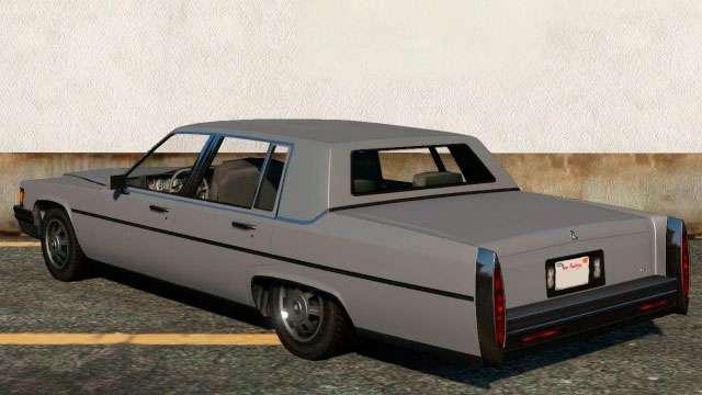 Albany Emperor de GTA 5 - vista desde atrás