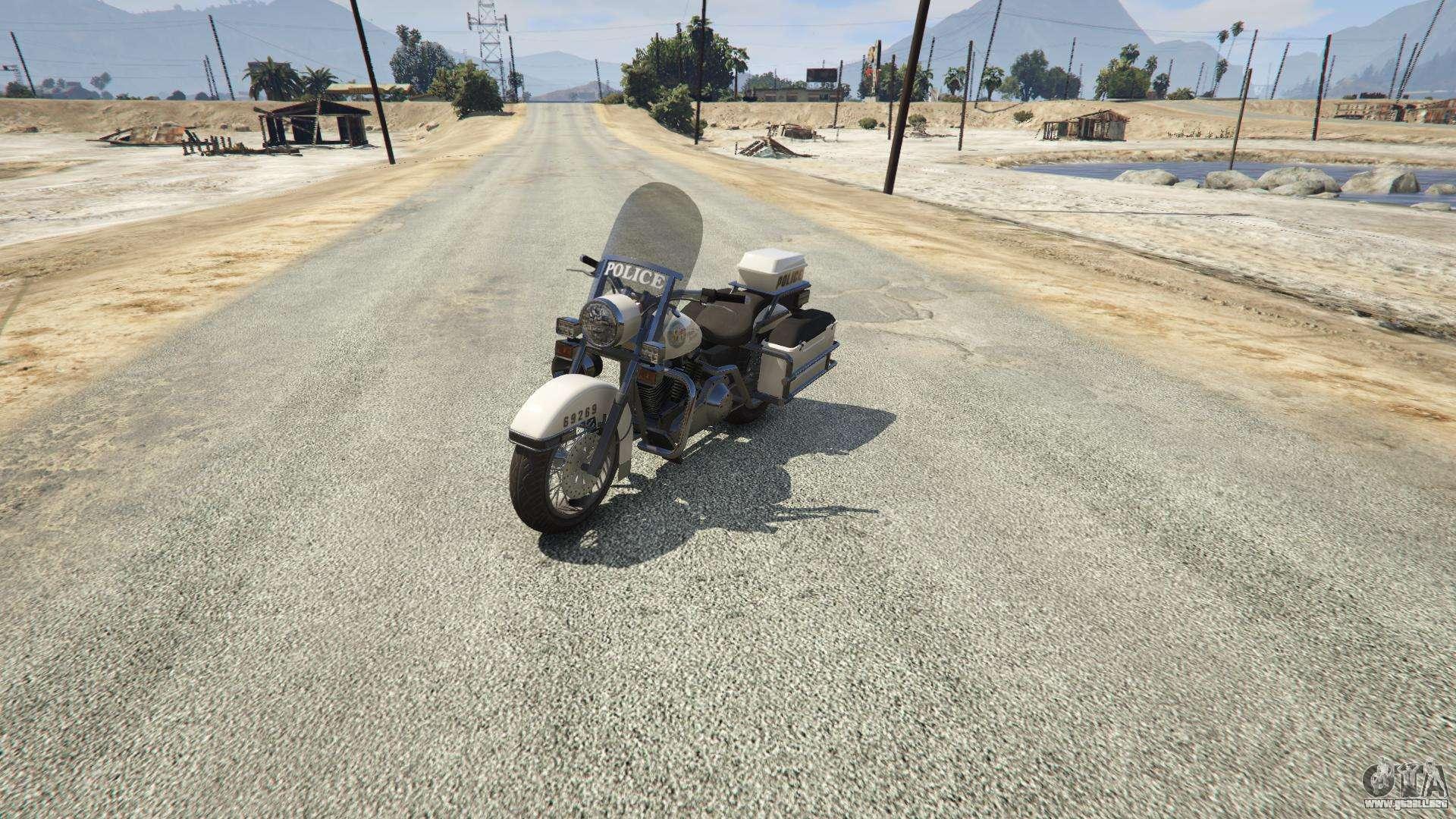 La policía de la Bicicleta de GTA 5 - vista frontal