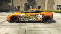 Dewbauchee Massacro Racecar de GTA 5 - vista lateral