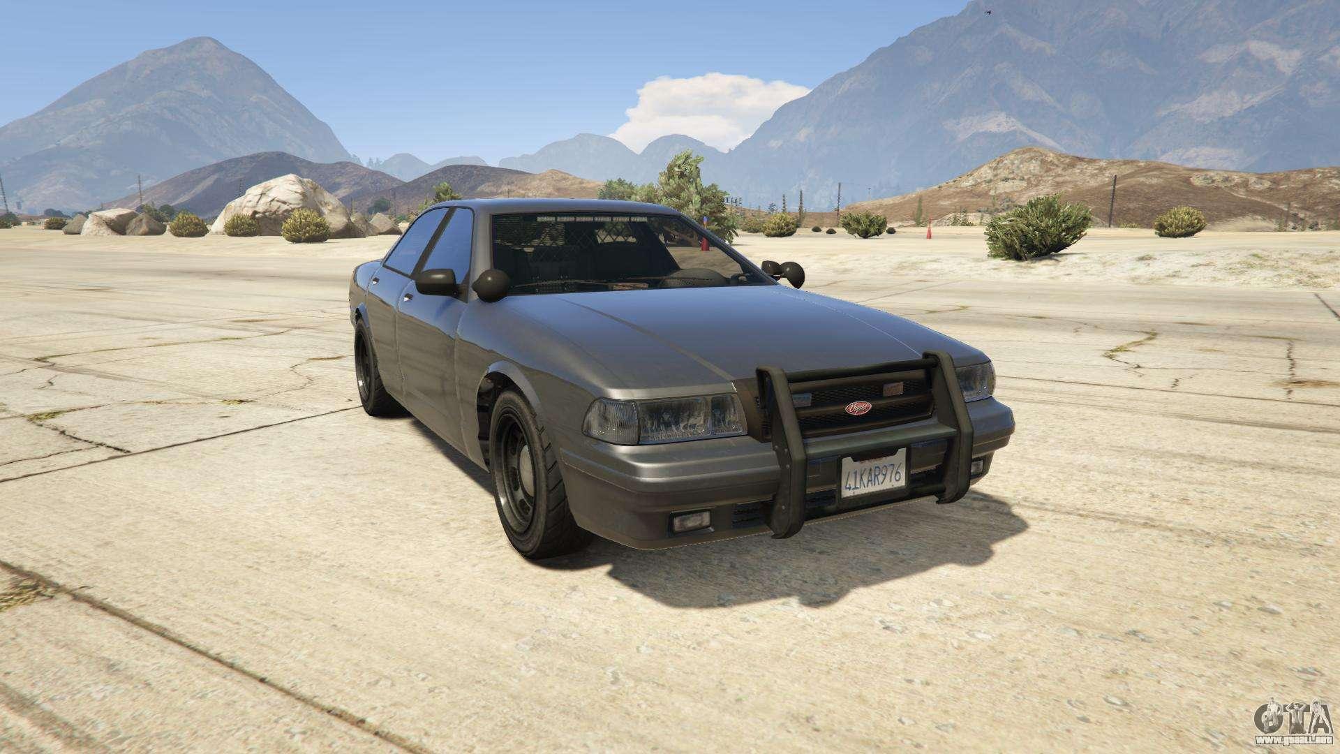GTA 5 Vapid Unmarked Cruiser - vista frontal