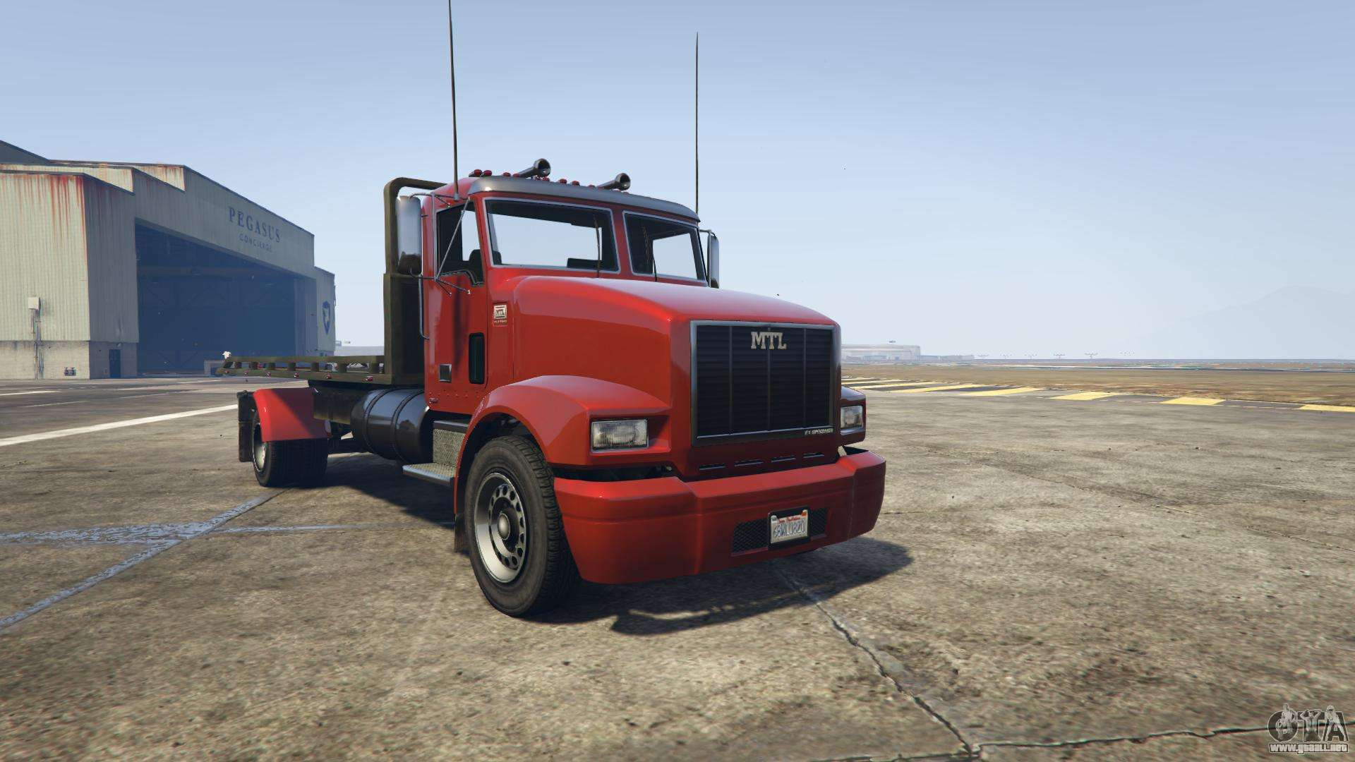 GTA 5 MTL Flatbed - vista frontal