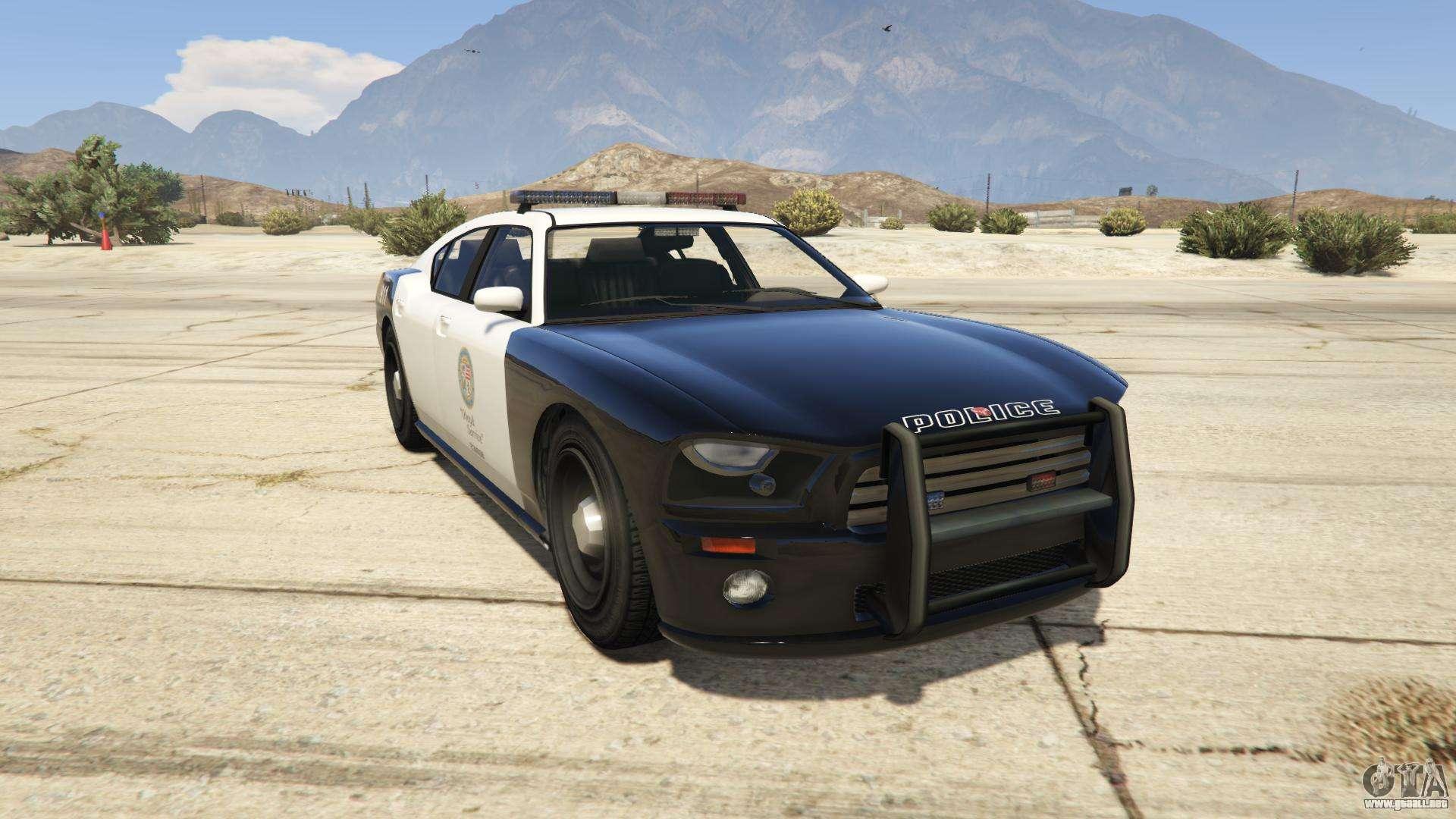 GTA 5 Bravade Police Buffalo - vista frontal