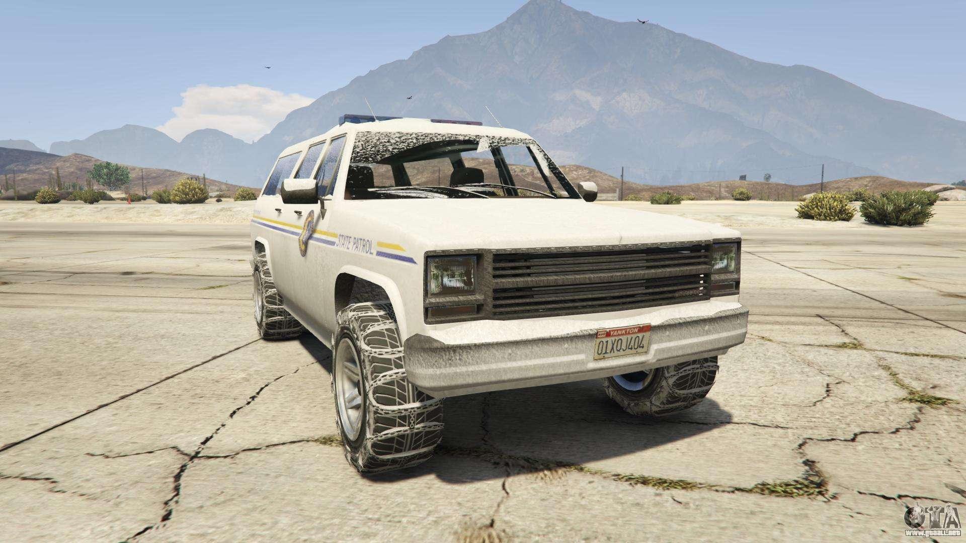 GTA 5 Declasse Police Rancher - vista frontal