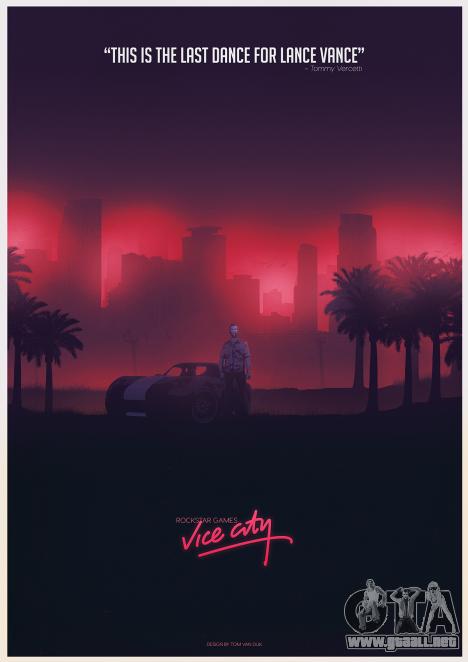 GTA Vice City Fan de póster