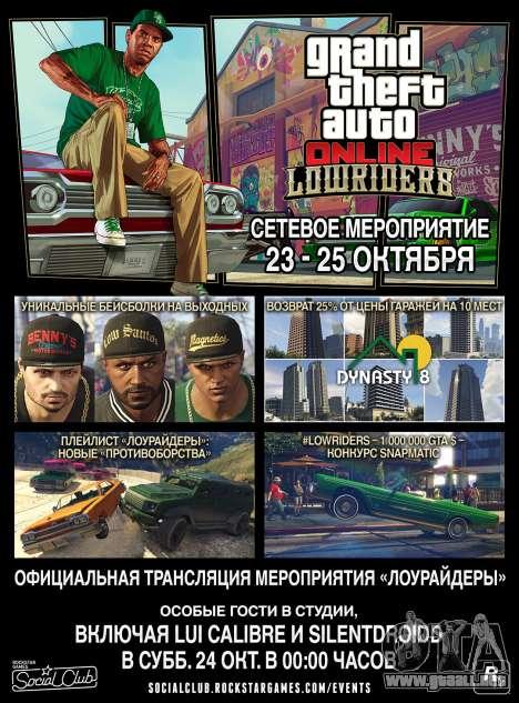 Lowriders GTA Online Evento de fin de Semana