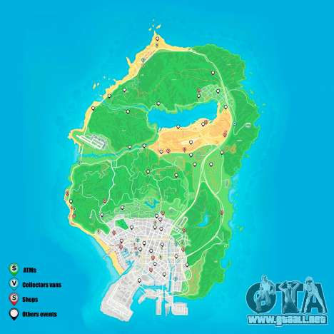 eventos Aleatorios mapa de Grand Theft Auto 5