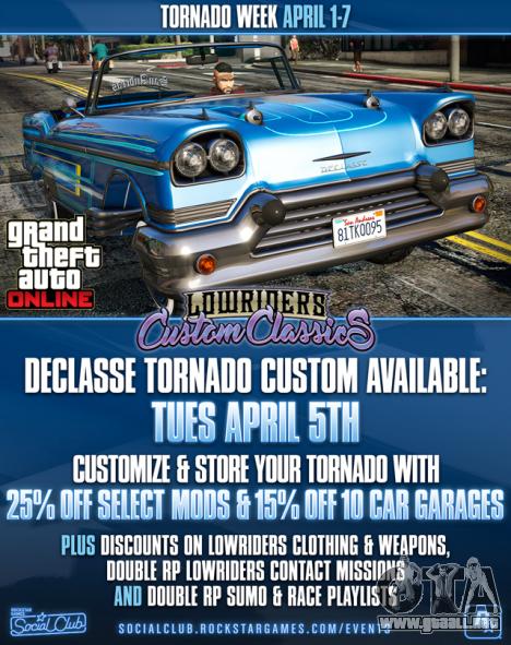 el Tornado de la Semana en GTA Online
