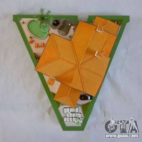 GTA V Michael Mansion por Arianm007 - vista superior