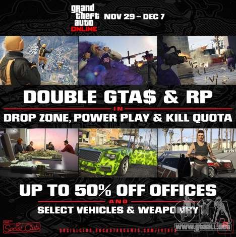 Actualización-Creador y doble bono en GTA Online