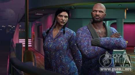 GTA Online: Chaqueta azul y pijamas