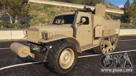 De Bravado Half-track aus dem GTA 5-vue de la cara