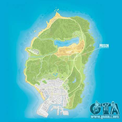 La prisión en el GTA 5 mapa