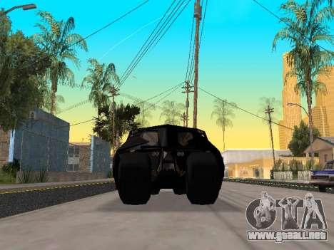Tumbler Batmobile 2.0 para visión interna GTA San Andreas
