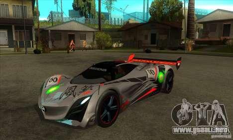 Mazda Furai V2 para GTA San Andreas