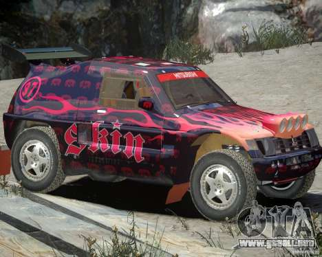 Mitsubishi Pajero Proto Dakar EK86 vinilo 4 para GTA 4 left