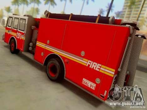 E-One FDNY Ladder 291 para GTA San Andreas left