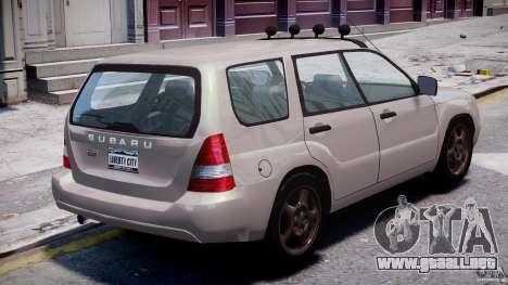 Subaru Forester v2.0 para GTA 4 vista superior