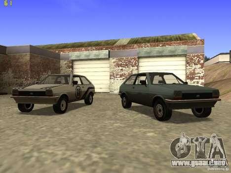 Ford Fiesta 1981 para GTA San Andreas vista hacia atrás