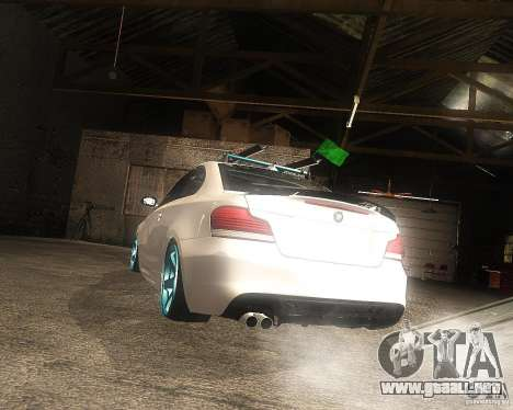 BMW 135i Hella Drift para GTA San Andreas left