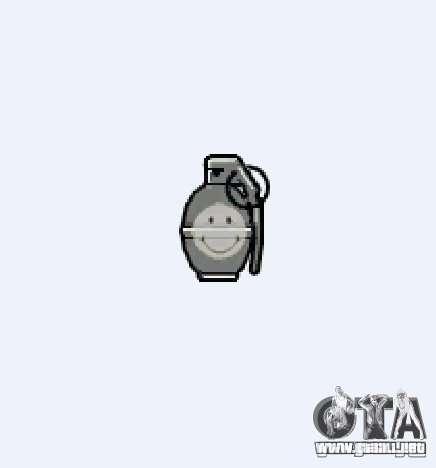 Smiley Granate para GTA 4 adelante de pantalla