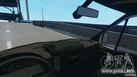 Mercedes-Benz Sprinter-Identification Criminelle para GTA 4 vista lateral