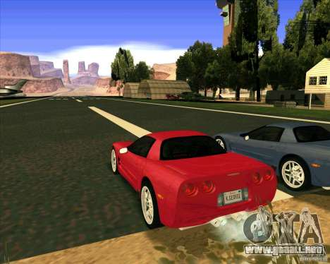 Chevrolet Corvette C5 z06 para GTA San Andreas left