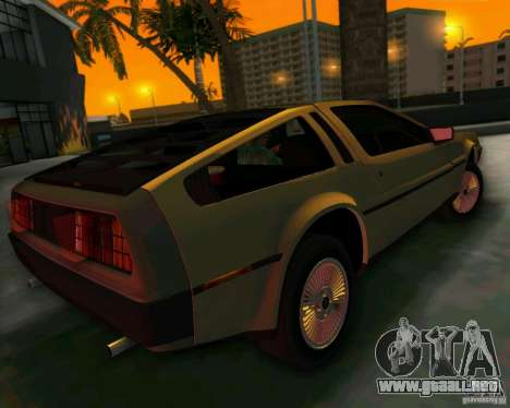 DeLorean DMC-12 V8 para GTA Vice City vista interior