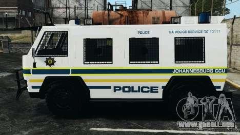 RG-12 Nyala - South African Police Service para GTA 4 left