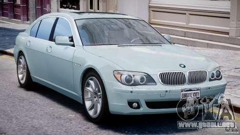 BMW 7 Series E66 para GTA 4 left