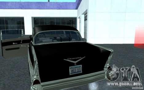 Chevrolet BelAir 4 Door Sedan 1957 para GTA San Andreas vista posterior izquierda