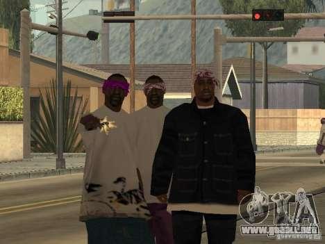 Nuevos aspectos Ballas para GTA San Andreas segunda pantalla