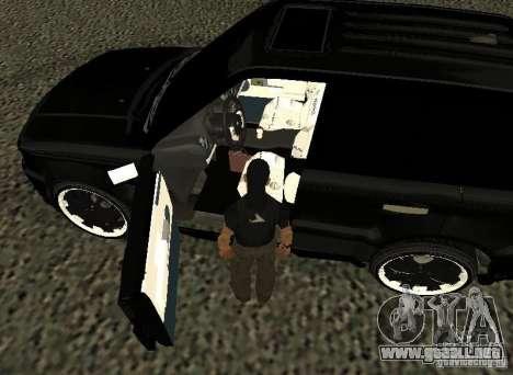 Land Rover Range Rover Sport Hamann para GTA San Andreas vista hacia atrás