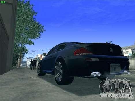 BMW M6 2010 Coupe para GTA San Andreas vista posterior izquierda