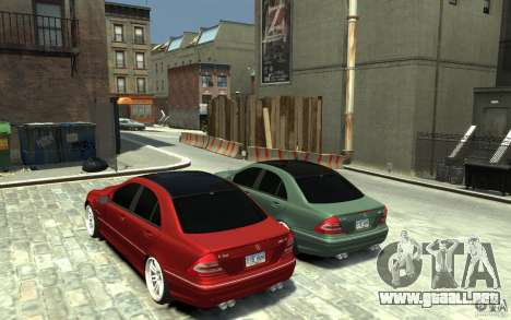 Mercedes-Benz C32 AMG Light Tuning para GTA 4 Vista posterior izquierda