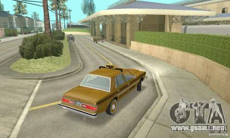 Dodge Diplomat 1985 Taxi para GTA San Andreas left