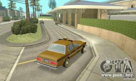 Dodge Diplomat 1985 Taxi para GTA San Andreas left