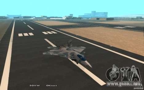 F/A-22 Velociraptor para GTA San Andreas vista hacia atrás
