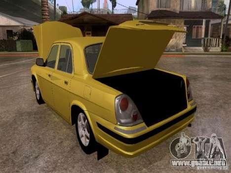 Volga GAZ 31107 para visión interna GTA San Andreas