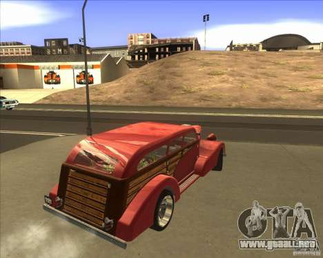 Custom Woody Hot Rod para GTA San Andreas left
