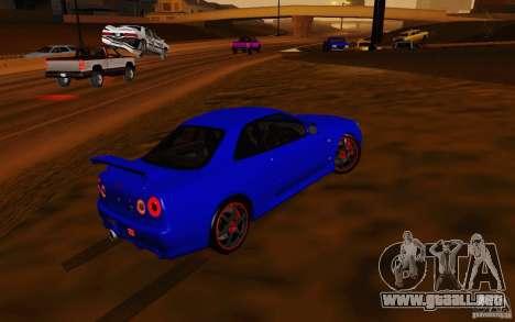 Nissan Skyline R34 GT-R V2 para vista lateral GTA San Andreas