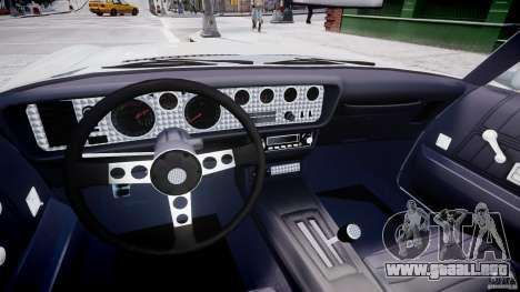 Pontiac Firebird Esprit 1971 para GTA 4 vista hacia atrás