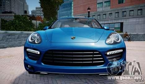 Porsche Cayenne Turbo 2012 para GTA 4 vista hacia atrás