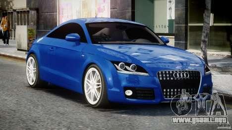 Audi TT RS Coupe v1.0 para GTA 4 vista hacia atrás