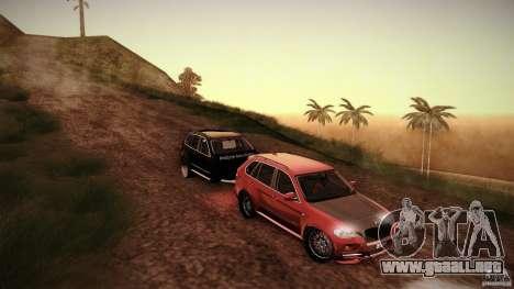 BMW X5 with Wagon BEAM Tuning para GTA San Andreas vista hacia atrás
