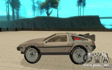 DeLorean DMC-12 (BTTF1) para GTA San Andreas left