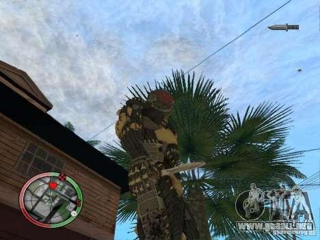 Colección de armas de Crysis 2 para GTA San Andreas sucesivamente de pantalla