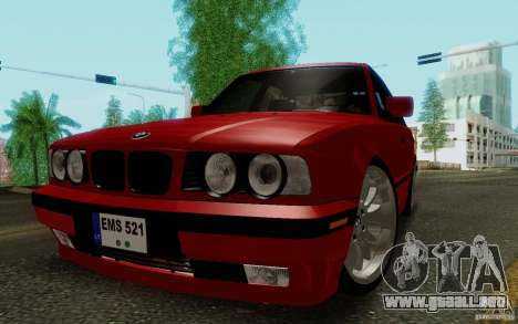 BMW E34 540i Tunable para GTA San Andreas left